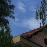 Antenne quart d'onde verticale canne à pêche bande 20m