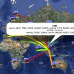 Carte WSPR XV4Y 10 Novembre 2011