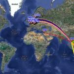 Réception WSPR 19 mars 2012 sur 30m