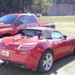 Antenne mobile Little Tarheel II sur une voiture sportive