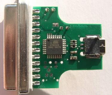 Convertisseur USB parallèle - dos PCB