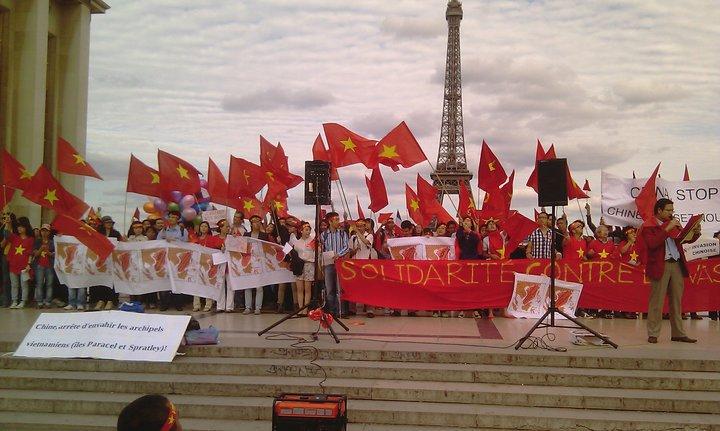 Manifestation Paris pour les îles Spratly