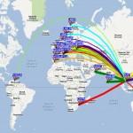 WSPR 20m 02 aout 2012