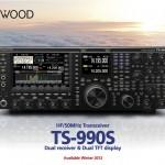 Plaquette du nouveau Kenwood TS-990s en anglais