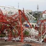 L'antenne de la télévision de la province de Nam Dinh est tombée