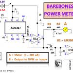 AD8307 mesure de puissance par W7ZOI, schéma par VE7BPO