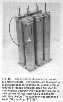 Cavités relais - article QST