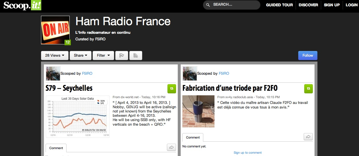 Capture HAM Radio France par F5IRO