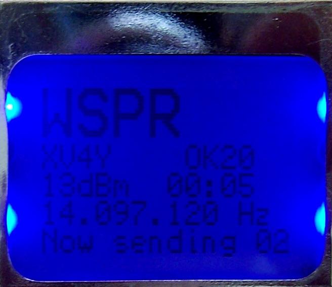 Ecran LCD kit balise WSPR DDS