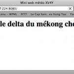 Serveur web embarqué météo