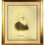 Portrait Samuel Morse signé
