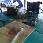 Portable IOTA AS-128 sur une île de la baie de Ha Tien