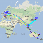 Capture carte WSPR XV4Y 40 mètres