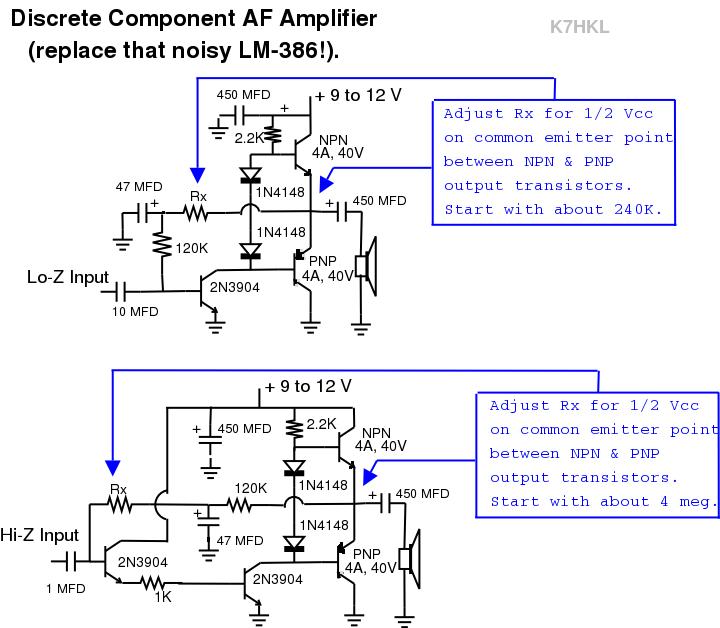 Ampli Audio transistor K7HKL