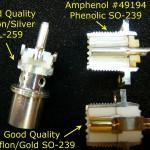 Caractérisation des connecteurs PL-259 (dit UHF) par W0QE et K9YC