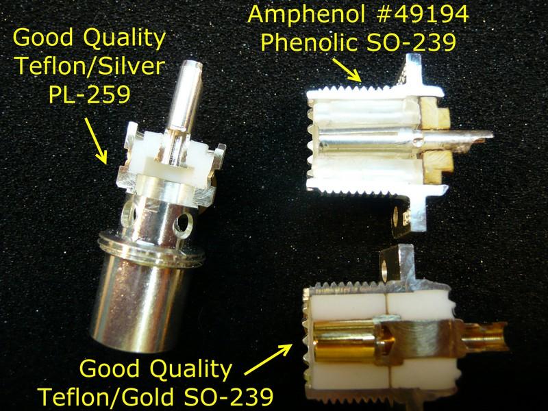 W0QE Coupe transverse PL-259