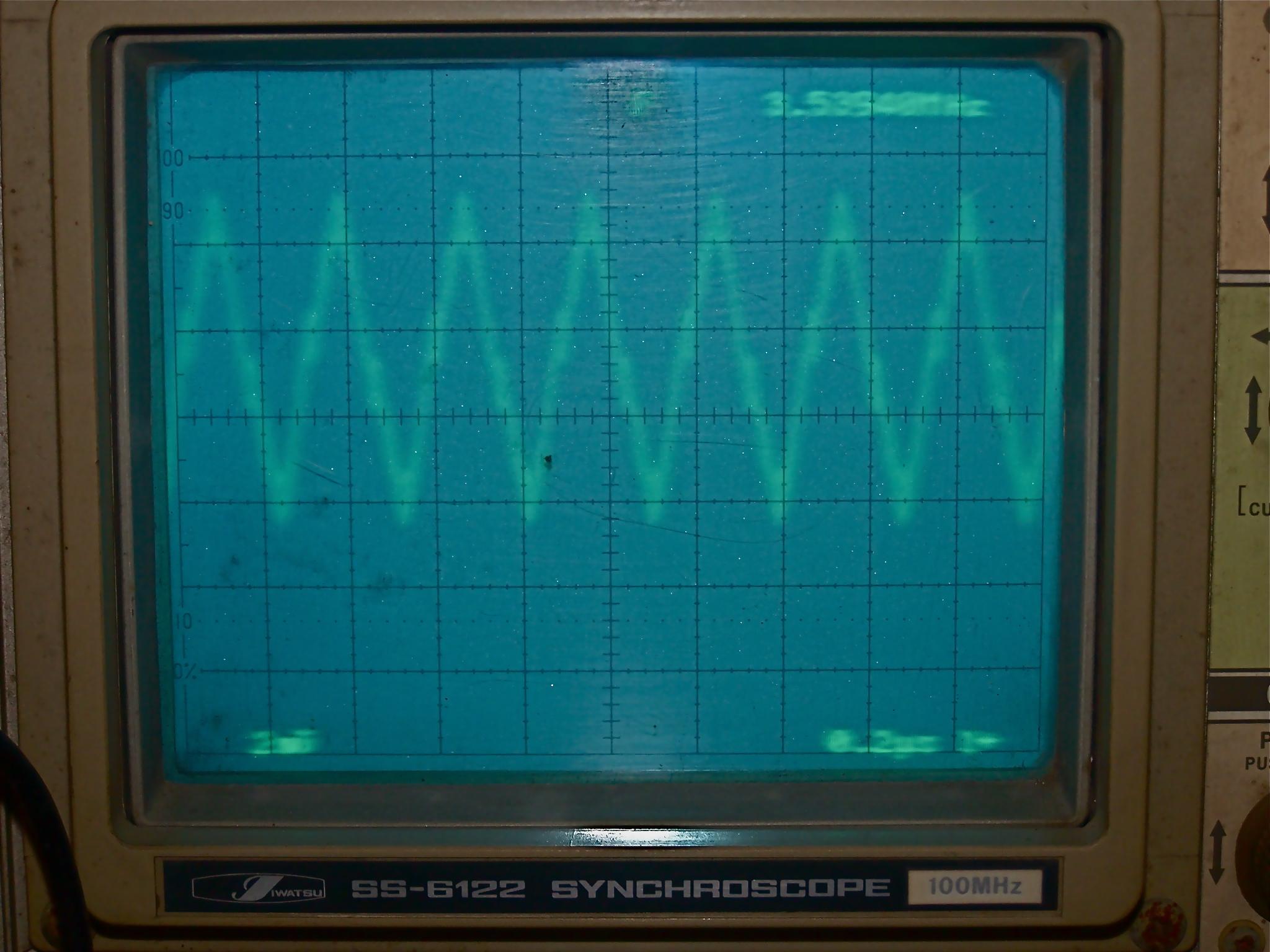 Signal 3,5MHz sur préampli 80m 2n5109