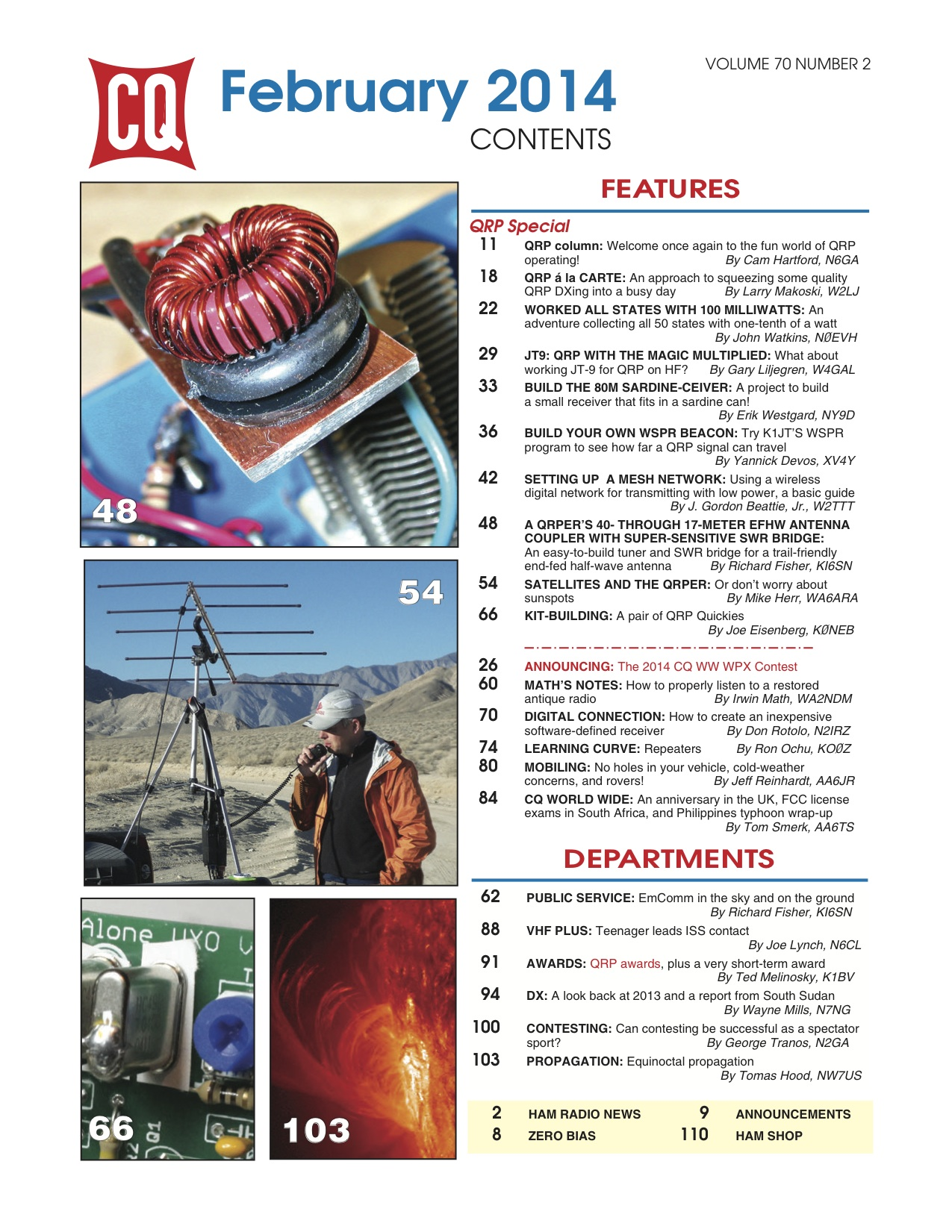 Table des matières CQ Magazine Février 2014
