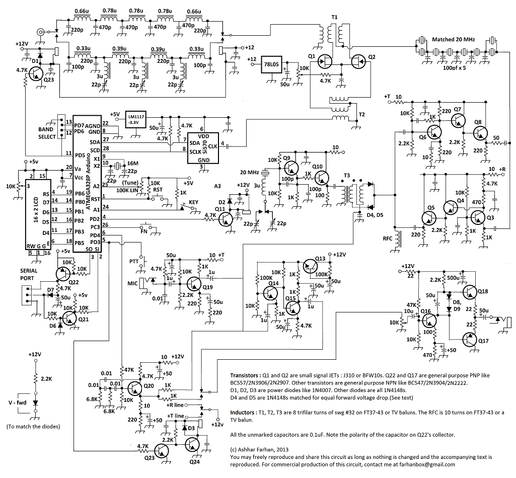 Schéma du MINIMA par VU2ESE