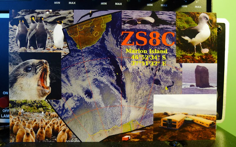 QSL ZS8C Marion Island