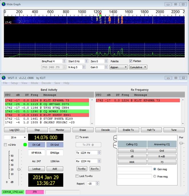 WSJT-X 1.23 écran principal