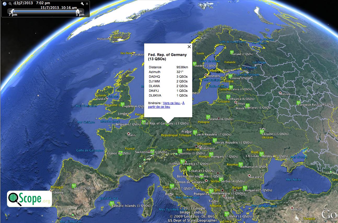 QScope sur GoogleEarth XV4Y