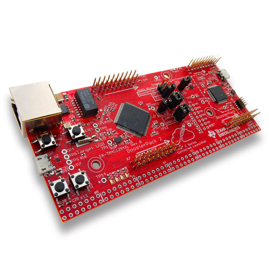 Texas Instruments LaunchPad Tiva C port Ethernet