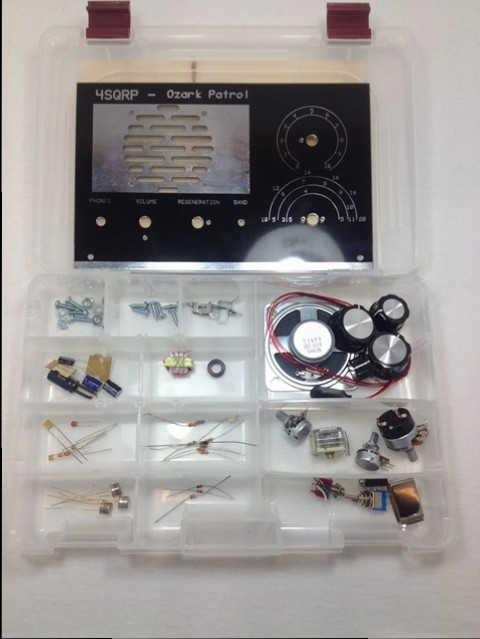Ozark Patrol composants du kit dans son boîtier