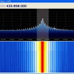 Spectre occupé par un module émetteur 433 MHz