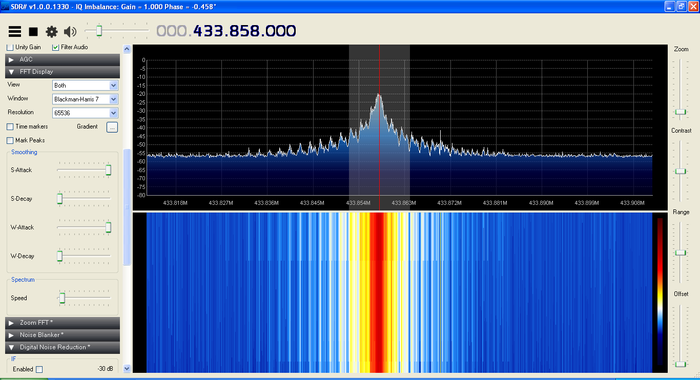XV4Y - Capture SDR Sharp Signal 433 MHz