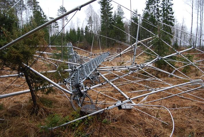 Dégâts antennes ES5TV