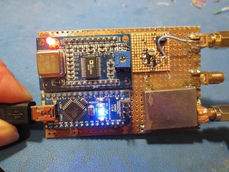 G4NQX Analyseur de réseau AD9850 Arduino Nano
