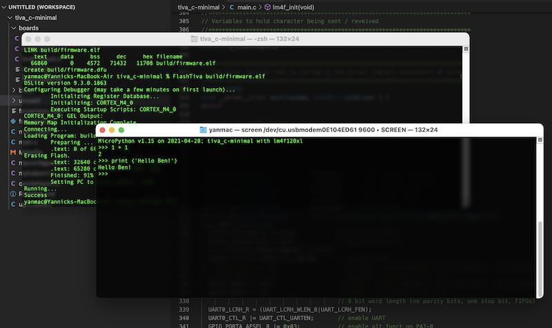 Capture écran MicroPython sur Stellaris LaunchPad